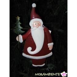 Weihnachtsmann aus Metall als Pflanzenstecker