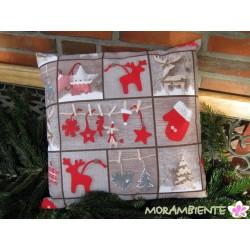 """Kissenhülle """"nordische Weihnacht"""""""