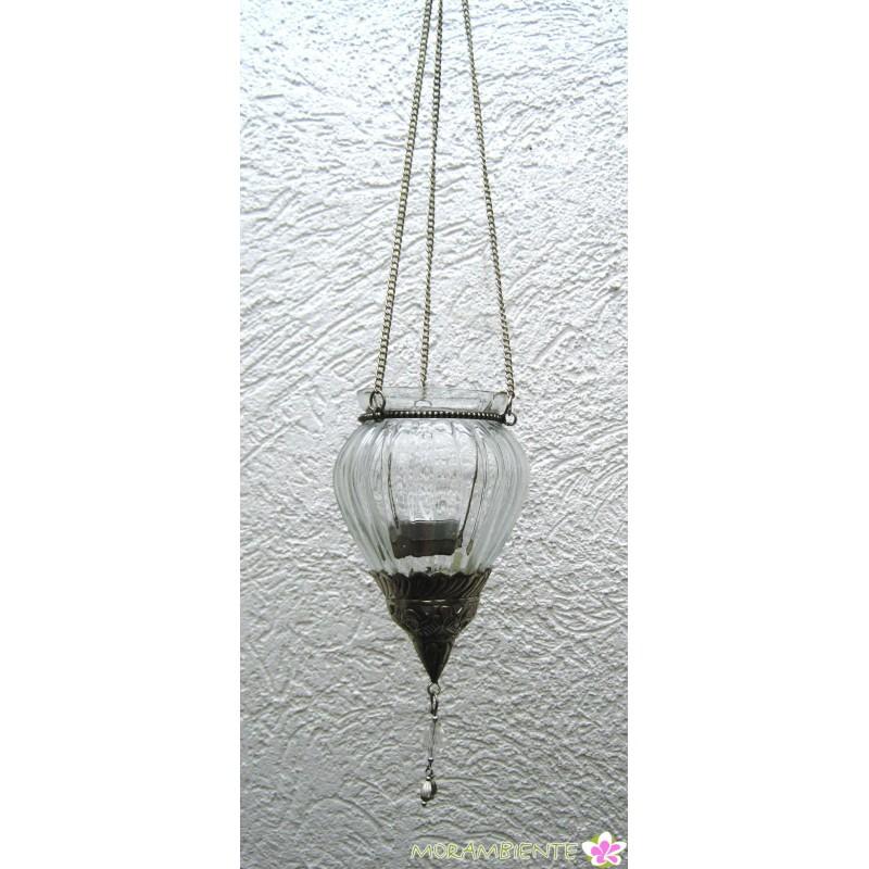 Windlicht-Hänger mit Metallverzierung