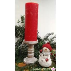 Kerzenleuchter Holz, weiß gewischt