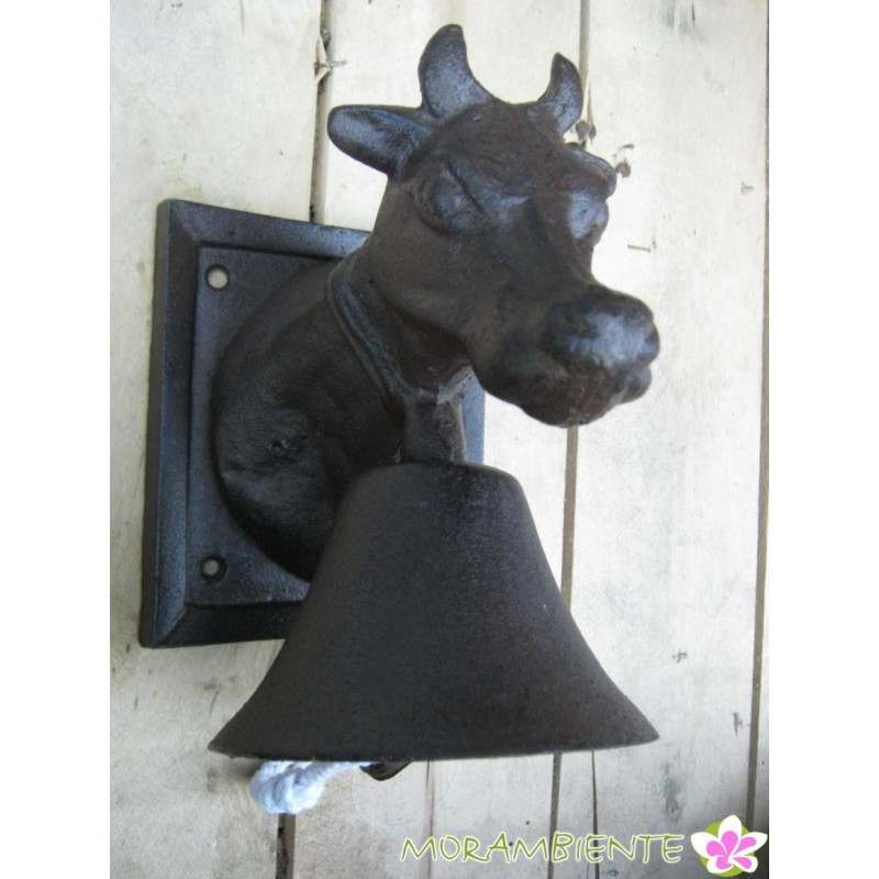 Kuhkopf mit Glocke aus Gusseisen