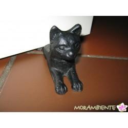 Türstopper-Katze aus schwerem Gusseisen
