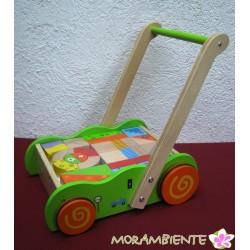 Lauflernwagen mit Bauklötzen von Jouéco