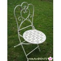 """Tisch und Stühle """"Blütenreigen"""", weiß-shabby"""