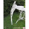 """Tisch und Stühle """"Blume"""", weiß-shabby"""