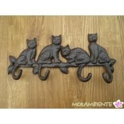 """Hakenleiste """"vier Katzen"""""""