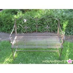 """Gartenbank """"Versailles"""" aus Metall in Rostoptik"""