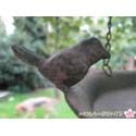 Vogeltränke- Futterhaus zum Hängen in Antikoptik