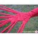 Bunte Hängematte aus reiner Baumwolle mit Spreizstab