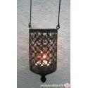 Indisches Windlicht im Antik-Stil aus Metall