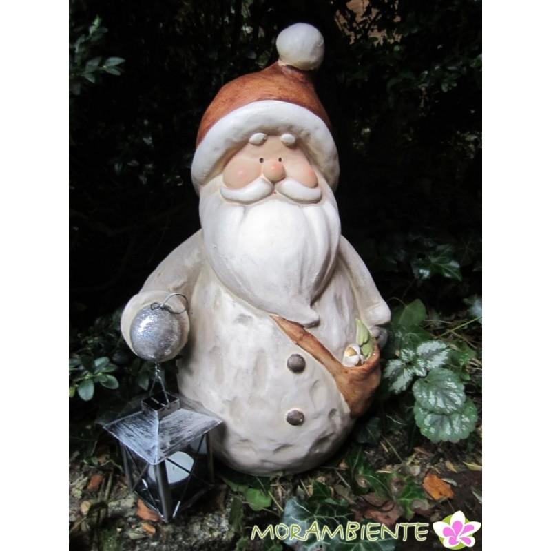 wetterfester Weihnachtsmann mit Laterne