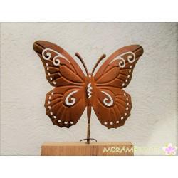 Dekosäule mit Schmetterling