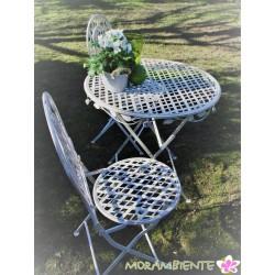 """Tisch und Stühle """"Rose"""", weiß-shabby"""