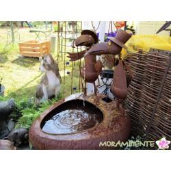"""Wasserbecken- brunnen mit Wasserspeiern """"Angler"""""""