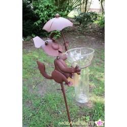 """Gartenstecker """"Hund"""" mit Regenmesser"""