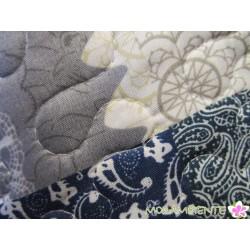 """Quilt 140 x 200 cm """"Patchwork braun"""""""