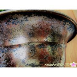 Metall-Pokal, Pflanzbehälter in Antik- Optik