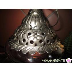 Orientalische Laterne aus Glas und Metall
