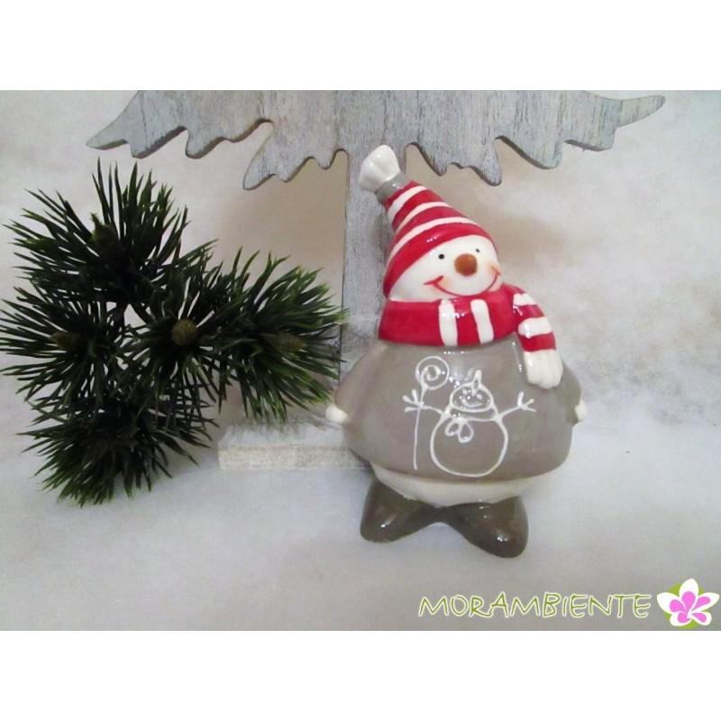 Kleiner Schneemann mit Ringelschal