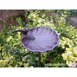 """Gartenstecker Vogeltränke """"Muschel"""""""