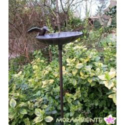 """Gartenstecker Vogeltränke """"Blatt"""""""