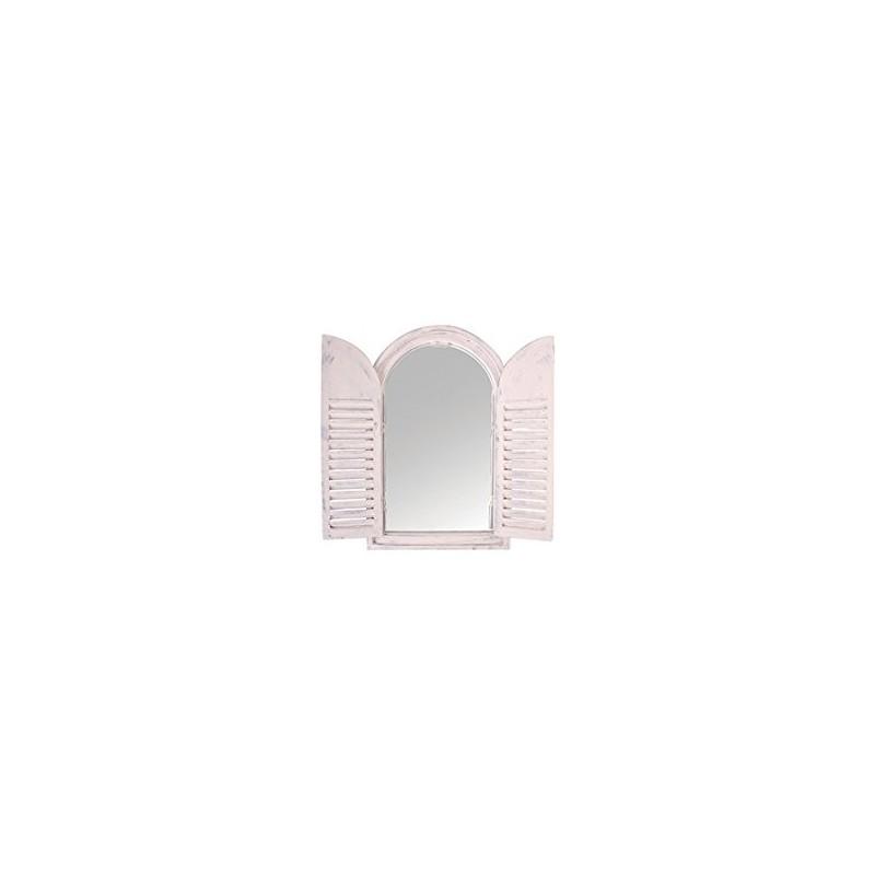 """Spiegel """"Utrecht"""" mit Fensterläden im Shabby-Stil"""