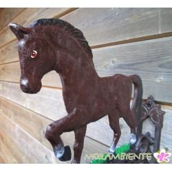 Schwere Glocke mit Pferdemotiv aus Gusseisen