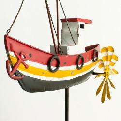 """Gartenstecker """"Fischerboot"""" im Antik-Look"""