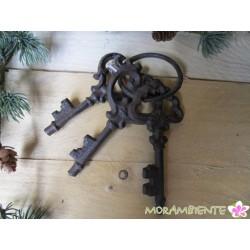 Schlüsselbund aus Gusseisen