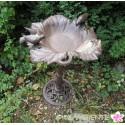 """große Vogeltränke """"Blütenranken"""" auf Fuß"""