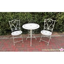 """Bistrogarnitur """"Green Garden"""", Tisch und zwei Stühle"""