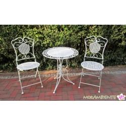 """Bistrogarnitur """"Roma"""", Tisch und zwei Stühle"""