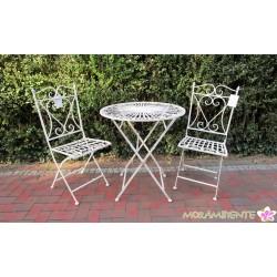 """Tisch und Stühle """"Den Haag"""", weiß-shabby"""