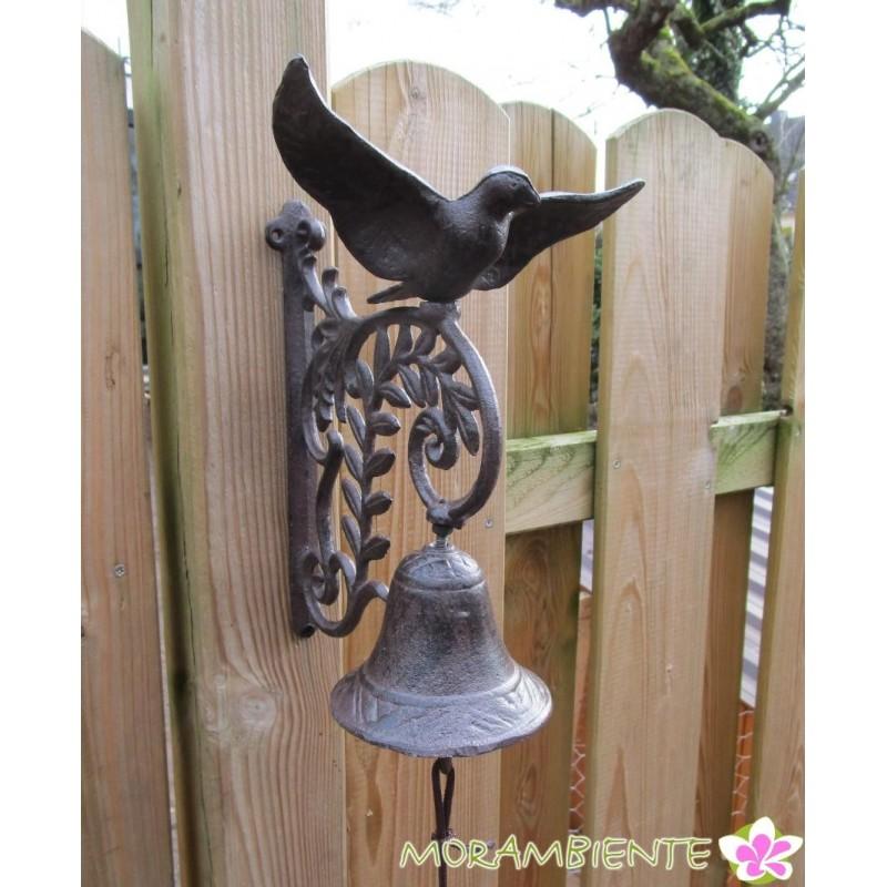 Glocke  mit Taube aus Gusseisen