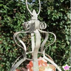 Blumenampel mit Krone im Antik-finish