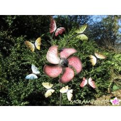 """Gartenstecker, Windspiel """"Schmetterlingsreigen"""""""
