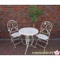 """Bistrogarnitur """"Riviera"""", Tisch und zwei Stühle"""