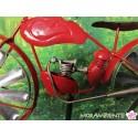 """Gartenstecker, Windspiel """"Motorrad"""" rot"""