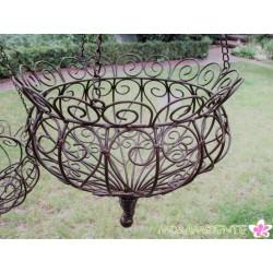 Dekorative Blumenampeln aus Metall in 2 Größen