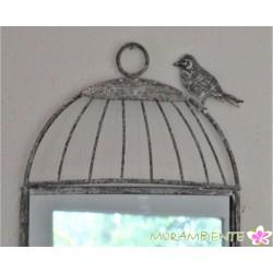 Antik-Art Spiegel mit Ablage in Art eines Vogelkäfigs