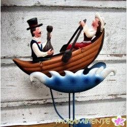 "Pendelfigur ""Paar im Ruderboot"""