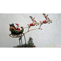 """Pendelfigur """"Weihnachtsmann im fliegenden Schlitten"""""""