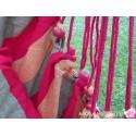 Hängesessel aus bunter Baumwolle