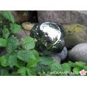 Silber-Dekokugel aus Porzellan