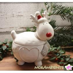 "Keramikdose ""Rentier Rudolph"""