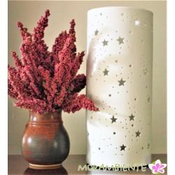 """Tischlampe """"Sterne"""" aus matt weißem Porzellan"""