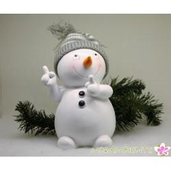 Lustiger Schneemann mit...