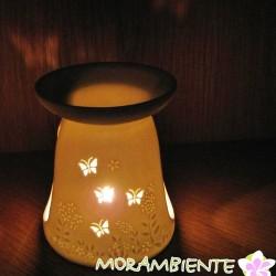 Weiße Duftlampe aus Porzellan