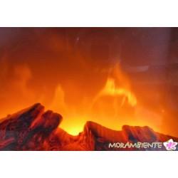 Kaminlaterne mit optischem Feuer