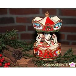 """nostalgische Weihnachts-Spieluhr """"Karussell mit Pferden"""""""